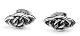 VE166 Vintage Female Chain Earrings Allergy One Pair Stainless Steel Ear... - $27.52