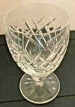 "Waterford Crystal Donegal Cut Claret Wine Glass 4 3/4"" Tall - $28.99"