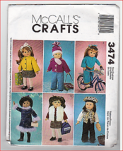 """Simplicity 4786 Doll Clothes Pattern for 18"""" dolls - $9.85"""