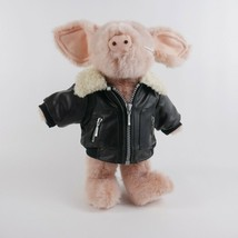 Boyds Willie B Biken Best Dressed Pink 12 inch Jointed Pig with Bomber J... - $37.36