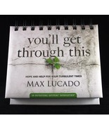 Max Lucado You'll Get Through This NEW Daybrightener Perpetual Flip Cale... - $13.87