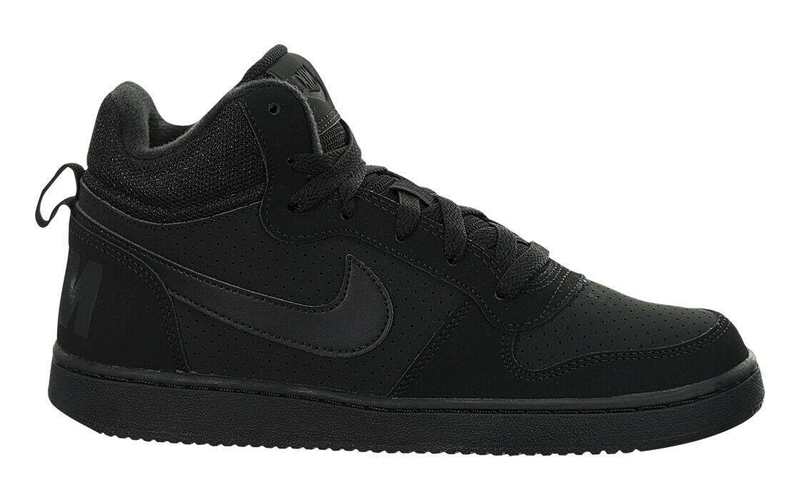 Nike Grade School Court Borough Mids Sneaker Black/Black 839977-001