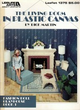 The Living Room In Plastic Canvas Leisure Arts 1375 Fashion Doll Playhouse - $7.95