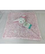 Hudson Baby White Rabbit Pink Lovey Security Blanket Stuffed Animal Toy - $12.95