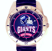 New York Giants NFL Fossil New Unworn, Rare Vintage 1995 Watch, Leather Band $79 - $78.06