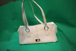 Vintage GUESS Leather Handbag White Patent Leather Small Evening Bag - $21.78