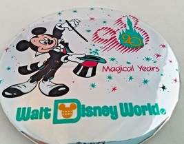 "DISNEY WORLD 20 Magical Years Anniversary 1991 Pinback Button Pin Badge 3"" - $4.94"