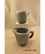 Frankoma  Blue Brown  Creamer 50A Cream & 50B Sugar Bowl Set - $10.39