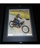 1973 Harley Davidson SX-350 Framed 11x14 ORIGINAL Vintage Advertisement - $37.04