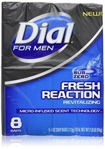 Dial for Men Fresh Reaction, Sub Zero Glycerin Bar Soap, 4 Oz Bars, 8 Ct. - $23.99