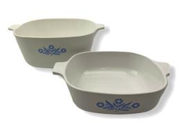 2 Lot-Corning Ware-Blue Cornflower-CASSEROLE P-1-B-1 Qt & 2 1/2 Qt Dish-No Lids - $39.59