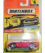 "Matchbox New Model 1997 Super Fast ""'97 Corvette"" #4 Mint On Sealed Tap... - $4.00"