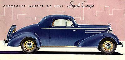 Primary image for 1935 Chevrolet Master Deluxe Sport Coupe - Promotional Advertising Poster