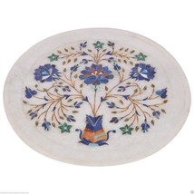 """9"""" Decorative Marble Plate Pietra Dura Lapis Lazuli Marquetry Home Decor Gifts - $148.20"""
