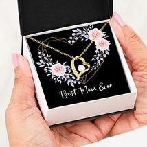 Best Mom Ever Love Forever Heart Necklace 18K Gold Gift For Women - Jewe... - $39.55