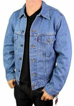 Levi's Men's Premium Classic Cotton Button Up Denim Jean Jacket 705070389 image 5