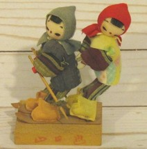 "Vintage Asian Japan China Dolls  4.75"" tall Pai... - $42.00"
