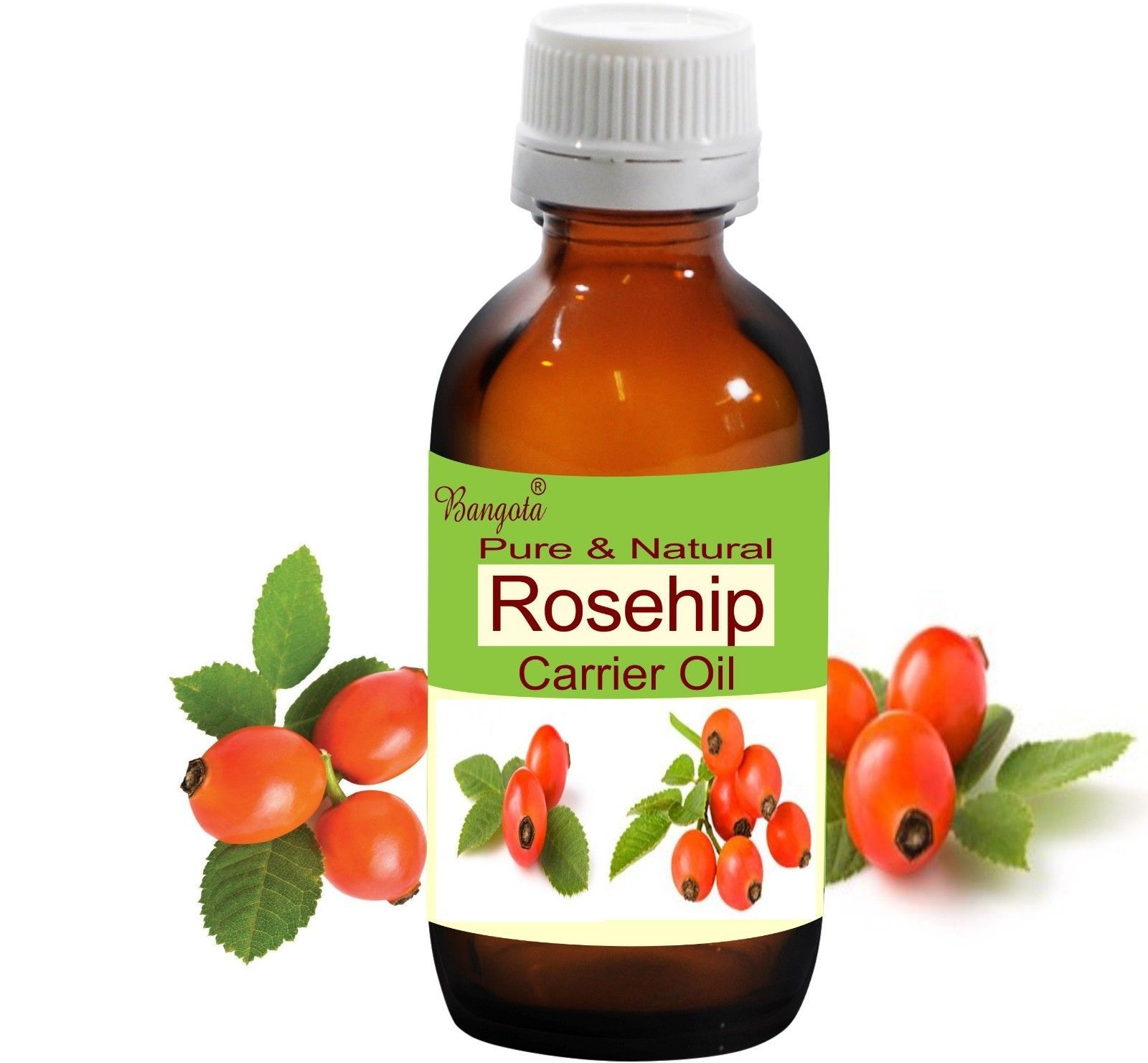 Rosehip Pure Natural Carrier Oil Cold Pressed 10 ml Rosa Rubiginosa by Bangota