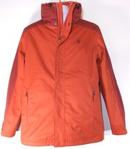 TIMBERLAND A1COI-603 MEN'S ORANGE 3 IN 1 WATERPROOF HOODED JACKET SZ M. - $111.99