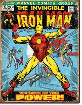 Marvel Comics Iron Man Comic Cover Tin Sign Poster Reproduction, NEW UNUSED - $8.79
