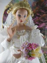 "The Garden of Prayer 11"" blond porcelain Bride doll by Thomas Kinkade GO... - $50.48"