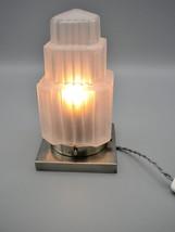 Beautiful Art Deco Skyscraper table lamp on metal base (ca1930) - $465.00