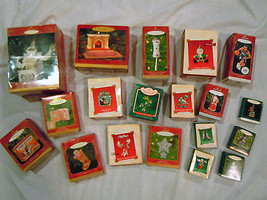 HUGE LOT OF 20 VINTAGE / NEW HALLMARK ORNAMENTS 1986 TO 2004 - $38.79
