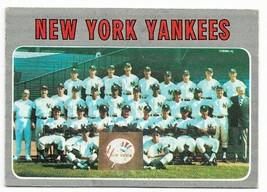 1970 Topps #399 New York Yankees Team Card - $2.65