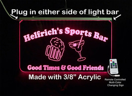 Custom LED Sign, Man cave sign with Beer Mug and Martini Glass - Home Bar image 1