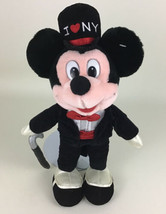 "Disney Store Original Mickey Mouse Tux Top Hat I Love New York 15"" Plush... - $24.70"