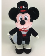 "Disney Store Original Mickey Mouse Tux Top Hat I Love New York 15"" Plush... - $24.70"