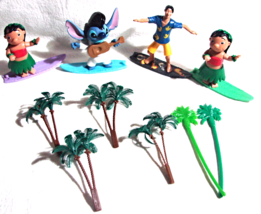 Milo & Stitch McDonalds bobble head figures/cake toppers-lot-14 pcs - $14.50