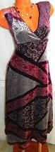 J JILL Crushed Velvet MAXI DRESS 10 Medium SILK Blend PURPLE Floral PART... - $23.75