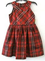 Bonnie Jean Big Girl Dress Red Black Plaid Sleeveless Zip Size 14 NEW KD... - $48.50