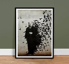 Banksy Hitchcock the Birds Print - Graffiti Art Unframed (8.5x11) - $12.89