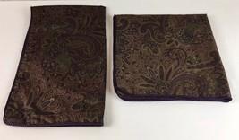 2 Ralph Lauren BOHEMIAN PAISLEY Pillow Shams 1- King, 1- Euro CORDED EDGES - $776,91 MXN