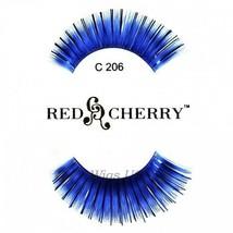 C206 Red Cherry Lashes Color Lashes Fake False Eyelashes US Seller - $3.75