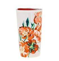 Starbucks Red Poppy Flower Floral Ceramic Dot Traveler Tumbler Coffee Cup 10 oz - $45.04