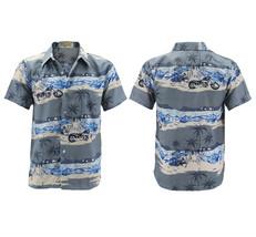 Men's Hawaiian Tropical Beach Party Button Up Casual Dress Shirt w/ Defect - XL image 1