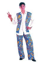 Flower Power Hippy Man, 1960s, 1970s Hippie, Mens Fancy Dress Costume #US - $27.95