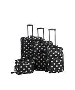 Rockland Luggage Galleria 4 Piece Expandable Travel Set Black OSFA Rolli... - $99.09