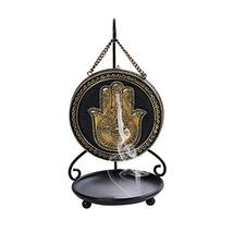 Pacific Giftware Hamsa Hand Backflow Round Burner with Stand - $26.99