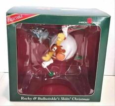 1995 Rocky & Bullwinkle's Skiin' American Greetings Christmas Ornament - $34.99