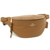 Coach F48738 Pebble Leather Belt Bag Fanny Pack camel - $78.21