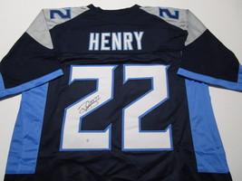 DERRICK HENRY / TENNESSEE TITANS / AUTOGRAPHED TITANS BLUE CUSTOM JERSEY / COA