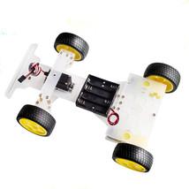Steering engine 4 wheel 2 Motor Smart Robot Car Chassis kits DIY For Ard... - $34.76