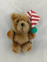 "Dakin Fun Farm Christmas Brown Bear Plush 5"" Ornament 1983 Stuffed Anima... - $10.95"