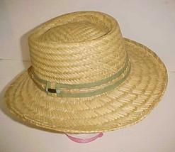 Panama Jack Original Adult Unisex 100% Straw Paper Green Band Beige Hat ... - $24.74