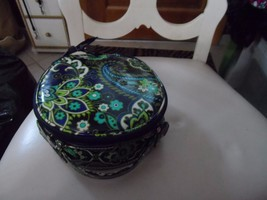 Vera Bradley HatBox Cosmetic in Rhythm and Blues - $26.50