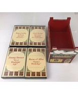 Cassette Tape Set Of 4 An American Christmas Classic In Wooden Case - $9.50